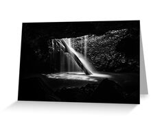 Natural Bridge Waterfall Greeting Card