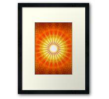 RAYS OF LIGHT - HEAVENS GATE Framed Print