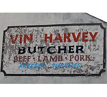 Vin Harvey, Butcher Photographic Print