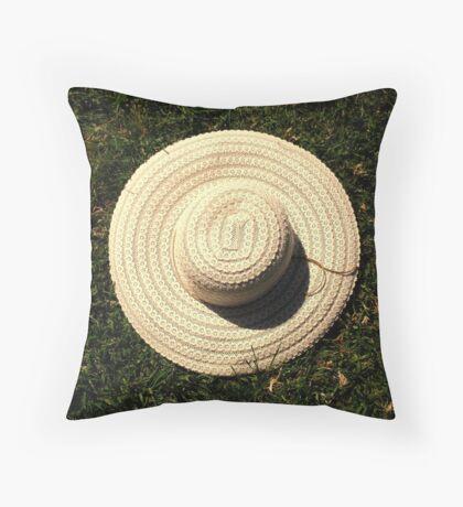 Sun hat Throw Pillow