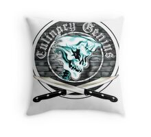 Skull Chef 8: Culinary Genius Throw Pillow