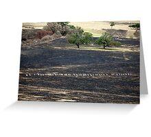 Bushfire Seaton Vic – Photo taken on 23 January 2013 Greeting Card