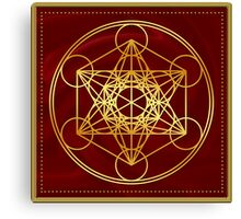 Metatrons Cube, Flower of life, Sacred Geometry Canvas Print