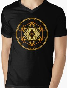 Metatrons Cube, Flower of life, Sacred Geometry Mens V-Neck T-Shirt