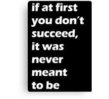 Success - White Canvas Print