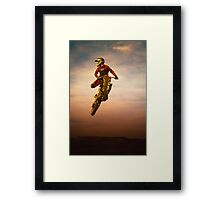 leap the shadow Framed Print