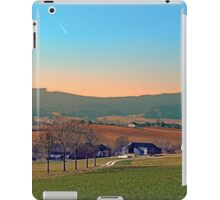 Avenue with trees, sunset and panorama | landscape photography iPad Case/Skin