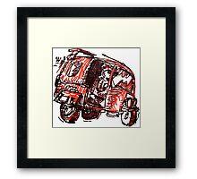 Tuk Tuk Auto Rickshaw Scruffy Framed Print
