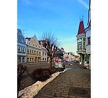 Pictoresque traditional village center | architectural photography Photographic Print