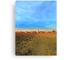 Horizon, clouds, sky and sunset | landscape photography Canvas Print