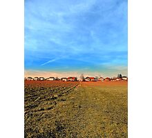 Horizon, clouds, sky and sunset | landscape photography Photographic Print