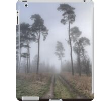 Forest Track in Mist. iPad Case/Skin