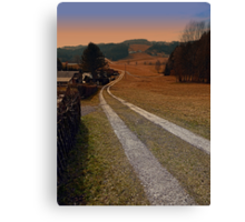 Scenery and a pathway into dawn | landscape photography Canvas Print