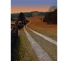 Scenery and a pathway into dawn | landscape photography Photographic Print