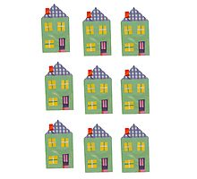 Cute And Colourful Little Houses Collage Photographic Print