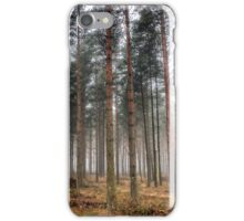 Pine Trees in Morning Fog. iPhone Case/Skin