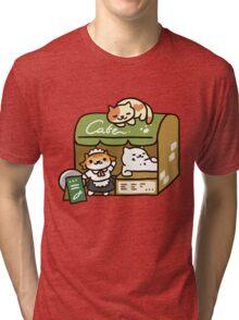Tubbs at the Cafe - Neko Atsume Tri-blend T-Shirt