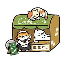 Tubbs at the Cafe - Neko Atsume Photographic Print
