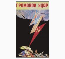 Soviet World War II design poster & shirt by Shaina Karasik