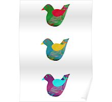 Trio Of Little Birdies Poster