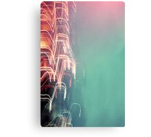Abstract Psychedelic City Lights Canvas Print