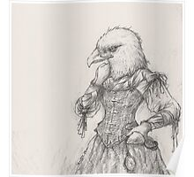 Steampunk Lady Eagle Poster