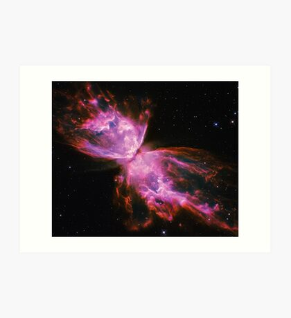 Impossible Triangle Butterfly Nebula | Fresh Universe Art Print
