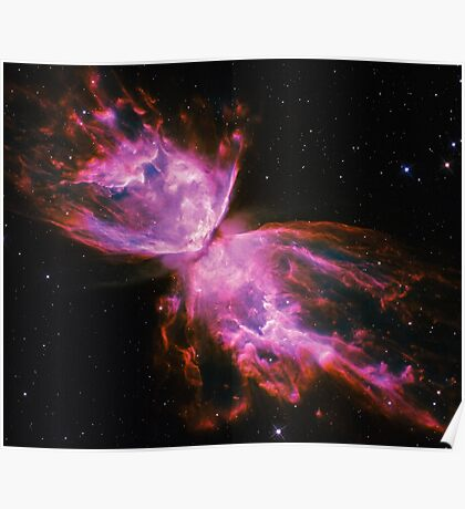 Impossible Triangle Butterfly Nebula   Fresh Universe Poster