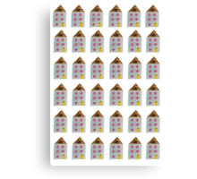 Little Seaside Houses Collage Canvas Print