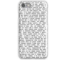 die in your arms lyrics justin bieber iPhone Case/Skin