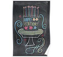 Chalkboard Happy Birthday! Poster