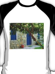 blue door and window in bodrum T-Shirt