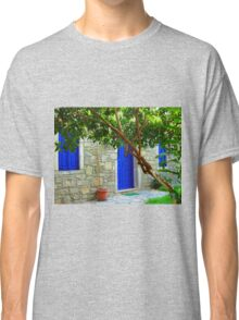 blue door and window in bodrum Classic T-Shirt