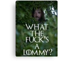 What the f**k's a lommy? Canvas Print