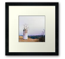 Tree in a Silo in January Framed Print