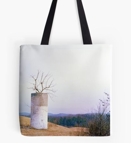 Tree in a Silo in January Tote Bag