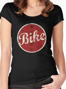 Bike Bicycle Cycling Women's Fitted Scoop T-Shirt