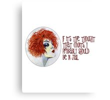 If It's the Thought that Counts... Canvas Print