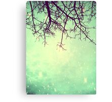 Psychedelic Green Galaxy Tree Canvas Print