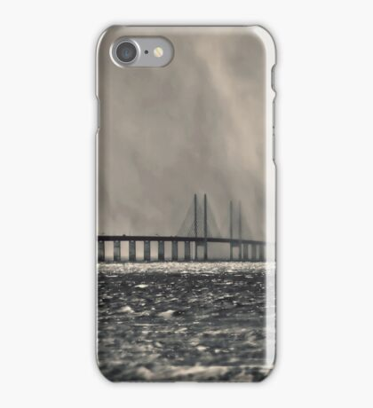 Snow Storm Out at Sea. iPhone Case/Skin