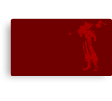 Cloud Strife Minimalist Red Canvas Print