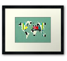 This is not a test Framed Print