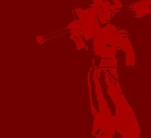 Cloud Strife Minimalist Red by jamden37