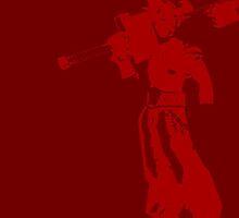 Cloud Strife Minimalist Red by jamden37