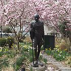 Gandhi Statue, Spring Colors, Union Square, New York City by lenspiro