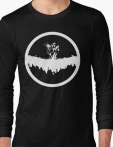 Urban Faun - White on Black Long Sleeve T-Shirt