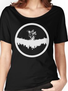 Urban Faun - White on Black Women's Relaxed Fit T-Shirt