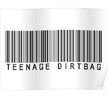Teenage Dirtbag Barcode Poster