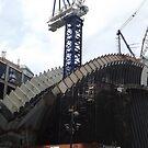 The New World Trade Center Transit Hub Starts to Rise, Santiago Calatrava, Designer, Lower Manhattan, New York City  by lenspiro