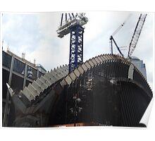 The New World Trade Center Transit Hub Starts to Rise, Santiago Calatrava, Designer, Lower Manhattan, New York City  Poster